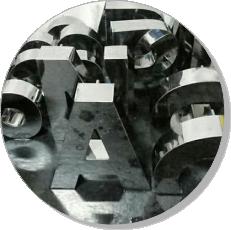 letras e letreiros