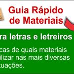 Guia de Materiais para letreiros